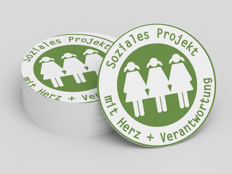 Aufkleber soziales Projekt