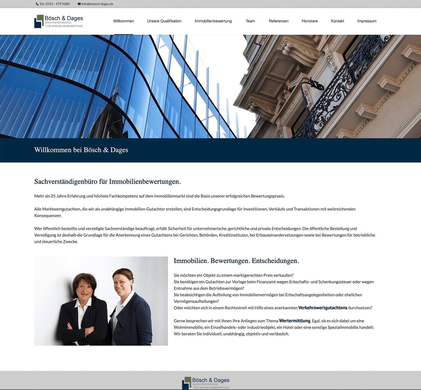 Startseite Bösch & Dages
