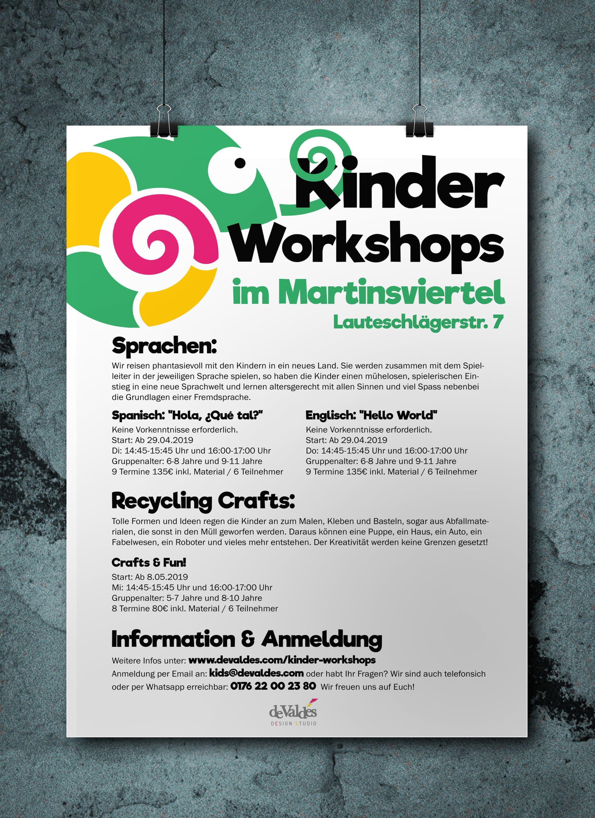 Poster Kindersprachschule